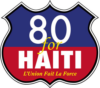 80 for Haiti Badge
