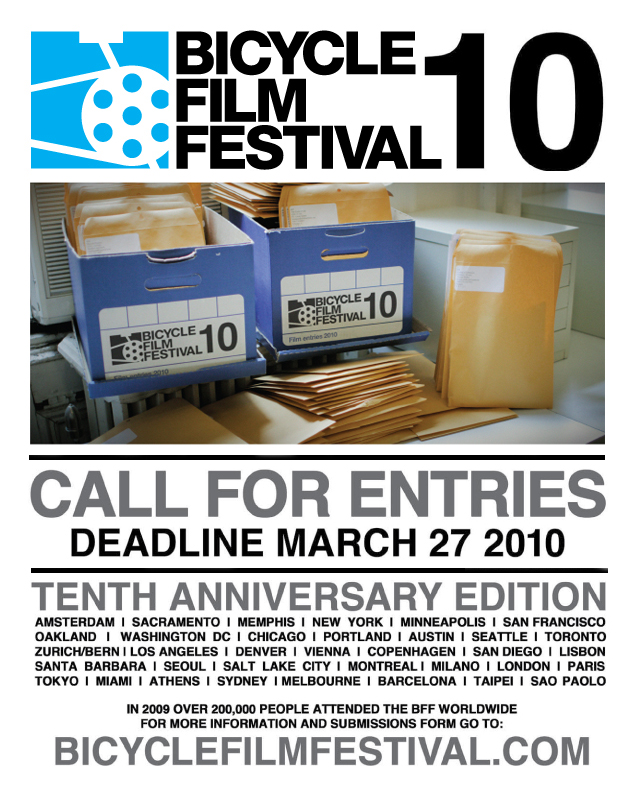 Bicycle Film Festival 10th Edition Entry Deadline