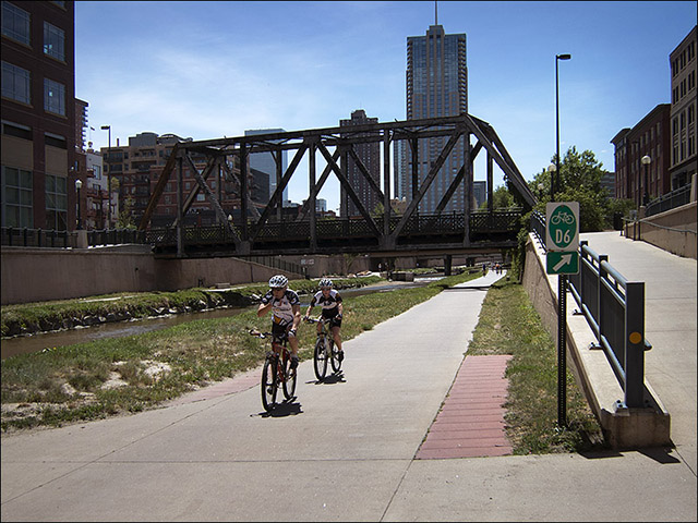 Cherry Creek bike path in Denver