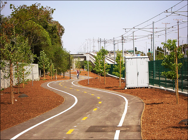 Expo Line Bike Path in Culver City