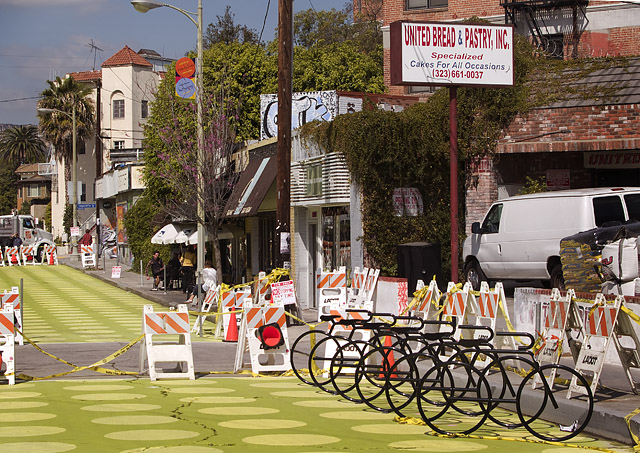 Bike corral in Silverlake