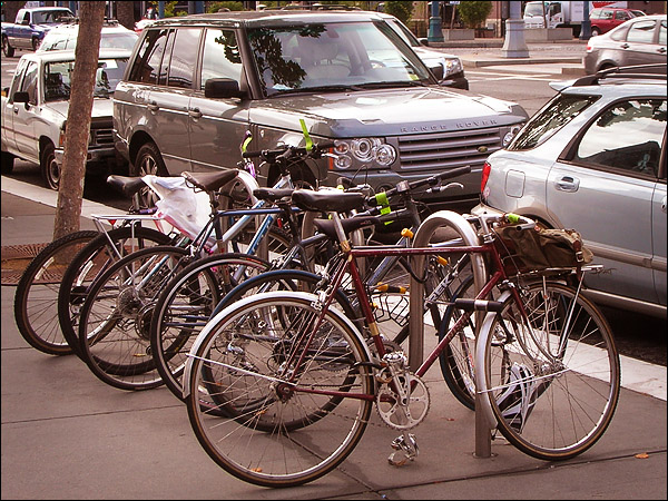 Bikes Parked on San Francisco's Embarcadero