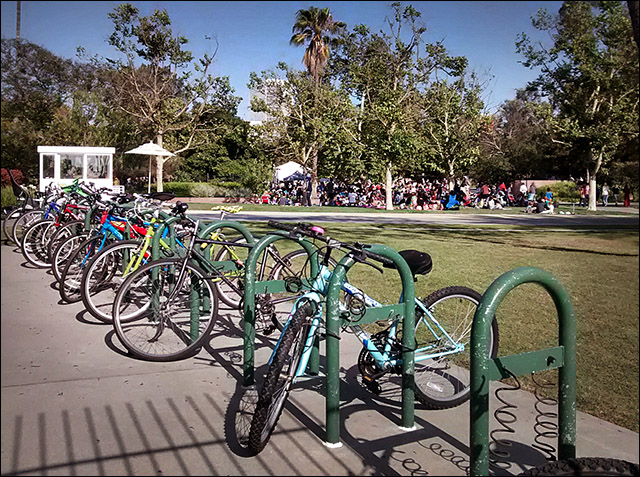 Bike corral at LACMA