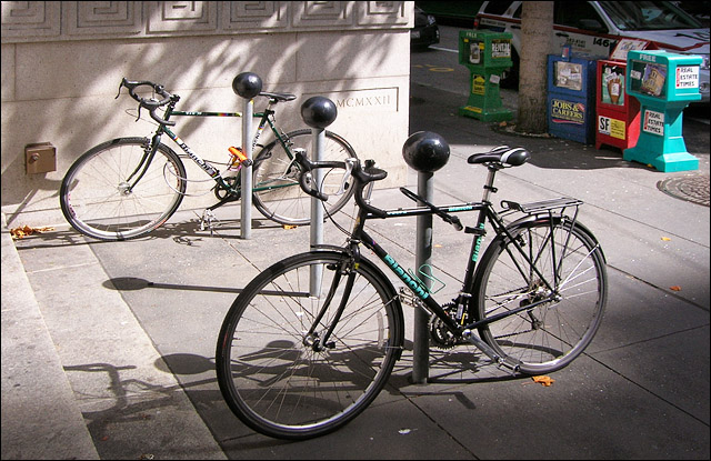 Knob top bike racks