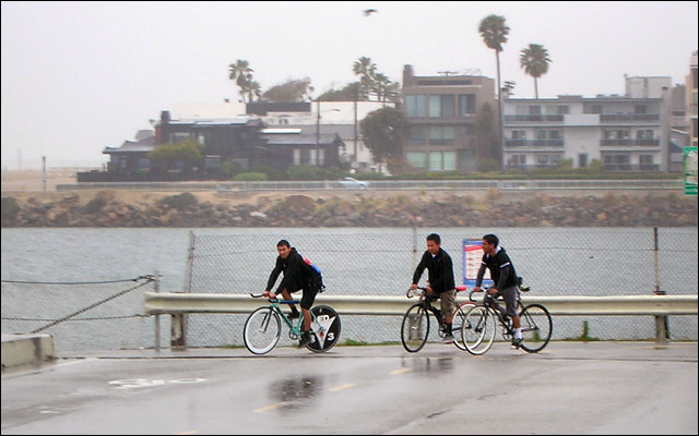 Fixie Punks on the Bridge at Playa del Rey