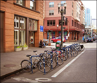 Bikes Portland Oregon Between and bike