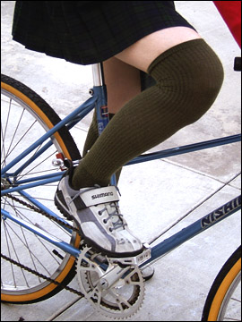 Bicycle Fixation Knicker Socks